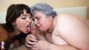 Chubby grandma loves threesomes (16 pics)