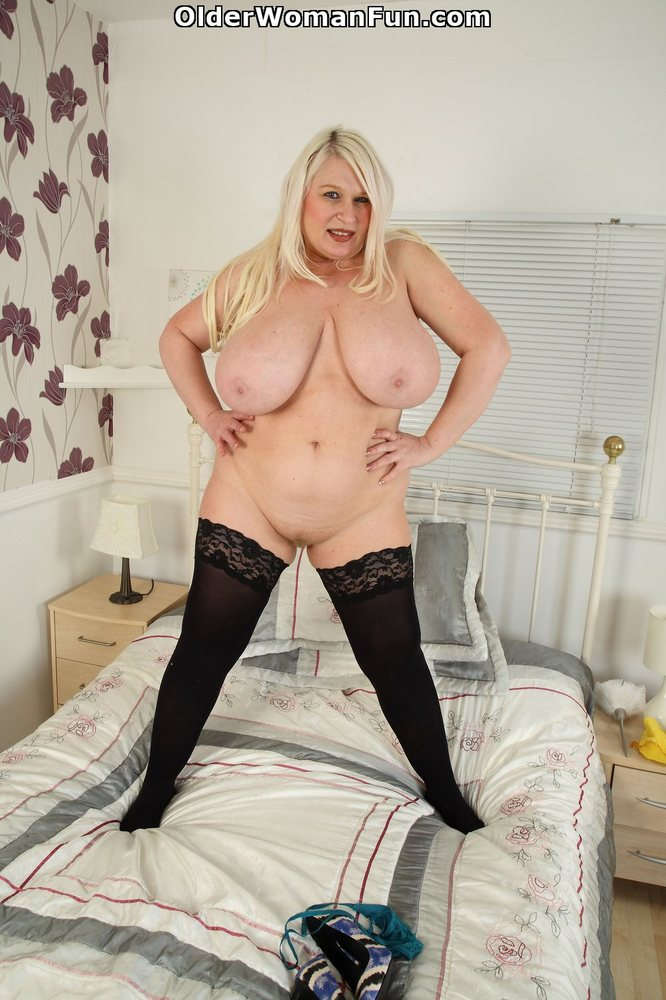 Amateur chubber with a huge rack takes a load all over them 8
