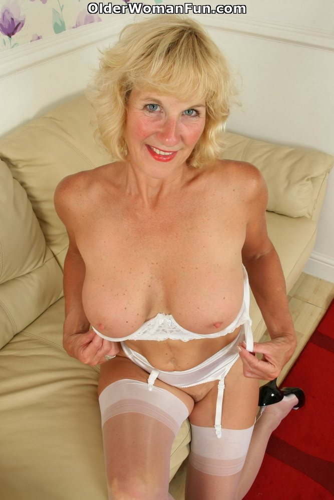 52 year old gilf is back and loves to fuck her dildo 10