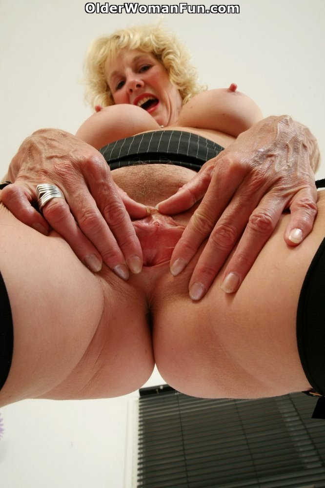 51 year old granny with leaking nipple and dripping pussy masturbates 8