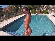 Asa Akira's Poolside Striptease