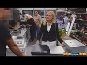Blonde milf becomes a p...