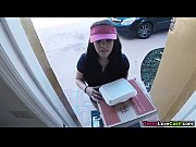 Picture Kimber Woods delivers pizza and bangs custom...