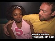 Ebony nina gets an anal creampie w full facial in a public tampa porn theater