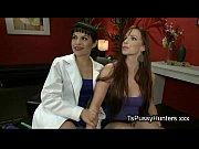 tranny shoves cock between butt cheeks – Porn Video