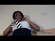 Ebony in school outfit ...