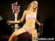 Seductive Smoking Gal Nude Wild