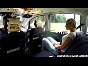 Picture Czech Blonde Rides Taxi Driver in the Backse...