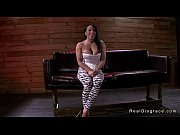 Tied up busty brunette deep throat gagged and f...