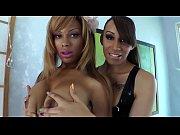 Ebony tranny ts plays with dick