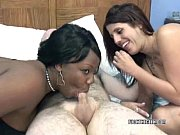 Picture Ebony Liani in a threesome with busty Lavend...