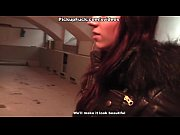 Picture Lovely red-haired girl sucks in the basement