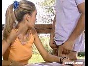 Teen blonde sex outside