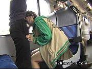 疲れて電車で寝ているお姉さんにセクハラしフェラを強要する鬼畜オヤジ