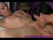massage client eats masseuse babes pussy