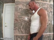 Picture Muscled dad with thick mustache fucks raunch...
