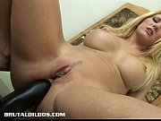 Picture Vivian tastes brutal dildo that just gaped her as...