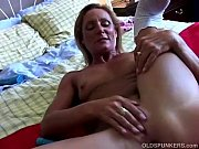 Picture Super sexy old spunker in stockings fucks he...