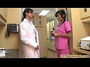 CFNM nurse Persia Pele gets a
