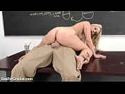 Picture Hot Blonde Schoolgirl Sucks and Fucks Her Te...