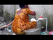 indian couple bathing out side, indian aunty son ganga snan Video Screenshot Preview