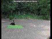 Picture Titted brunette sucks on the beach