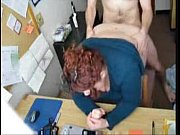 fat redhead penetrated in office