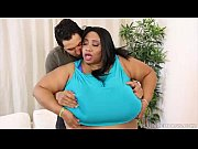 Picture Ebony SSBBW Cotton Candi Slurps and Sucks on Lati...