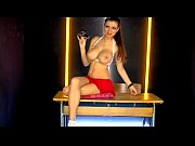 sweet phonesex brunette in white and red UK TV Nude models