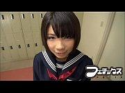 【葵こはる】女子校生がドキドキ先輩に告白!目を閉じてと言われ不意打ちキス!なんと股間にも!