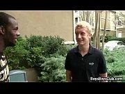 BlacksOnBoys - Black Muscular Gay Dude Gucks White Twink 18