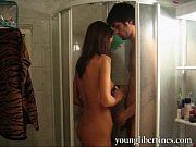 Taking a shower with sexy teen girl
