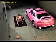 3 D の違法なストリート レーサーの変態ポルノ