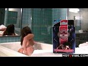 Picture Cute Brunette in bathtub has orgasm