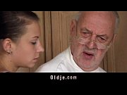 Picture Fetishist brunette licking wrinkled old man