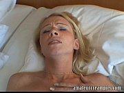 Hot blonde gets a deep risky creampie