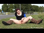 English Redhead Isabel Has An Orgasm In Public