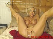 Picture Hot blonde Amber playing with dildo