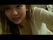 Adarable busty asian teen at home with toys