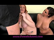 Femaleagent curvaceous redhead in first time casting
