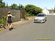Picture German redhead stops car for fucking