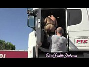 Elisa public slut flashing in public on a rest area elisapublicslut com