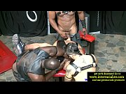 Ebony BDSM gay dudes banging subs hard