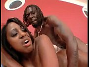 ruby red thick makes ebony guy cum