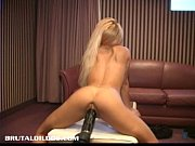 Petite French Blonde Demolished By A Brutal Dil...