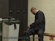 janitor bounds and nails dude in locker room – Gay Porn Video