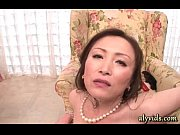 Horny asian milf gives blowjob in group