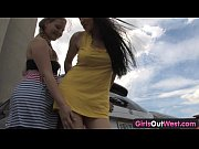 girls out west – sexy lesbians at the car park