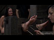 Painful clamping for beauty&039s breasts