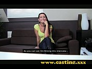 casting beautiful brunette gets perfect body plastered in cum